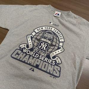 Majestic Shirts - NEW YORK YANKEES T-SHIRT 👕 2009 WORLD SERIES MLB
